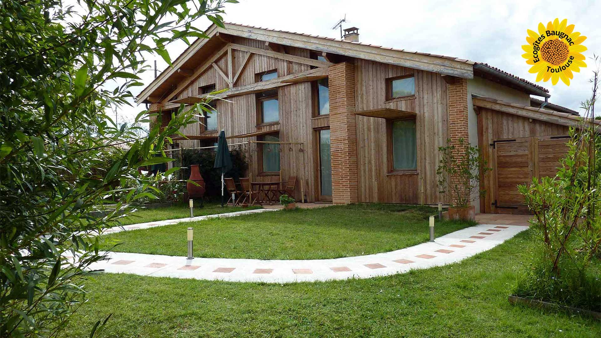 Gîte écologique 4 adultes et 2 enfants à Toulouse
